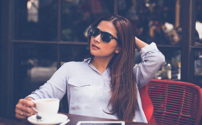 kobieta kawa