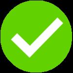 Tick - pozytywna weryfikacja zdolności kredytowej, znak ok.